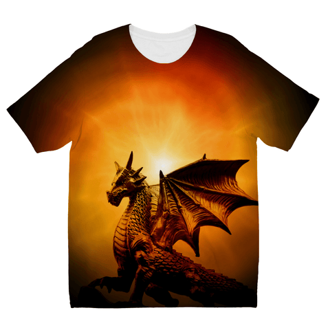 Love and Design There Be Dragons Kids Sublimation TShirt