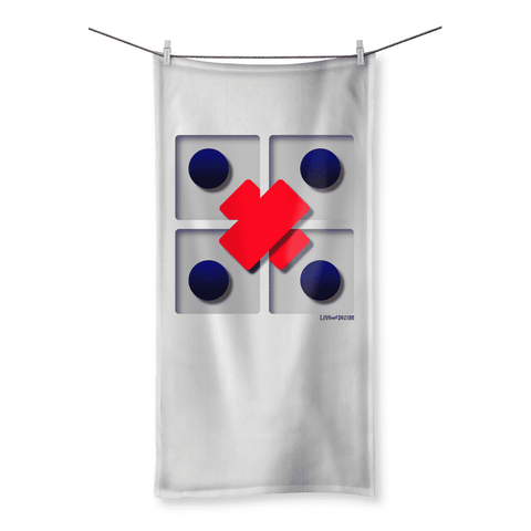 Love and Design Slightly Odd 3d Effect Beach Towel