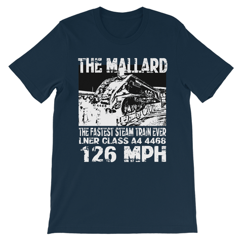 Love and Design Brand - The Mallard 126 MPH Steam Train Kids TShirt