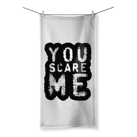 Love and Design You Scare Me Beach Towel