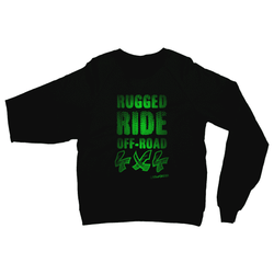 Rugged Ride Off-Road 4x4 Love and Design Brand Heavy Blend Crew Neck Sweatshirt