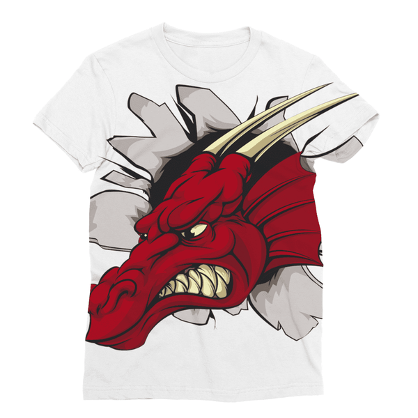 There Be Dragons Sublimation T-Shirt