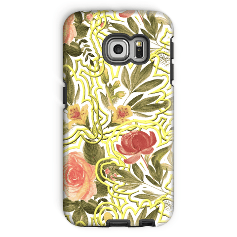 Fower with Gold Border Phone Case