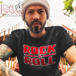 Rock and Roll T-Shirt Love and Design Music