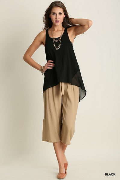 High and Low Sleeveless Top
