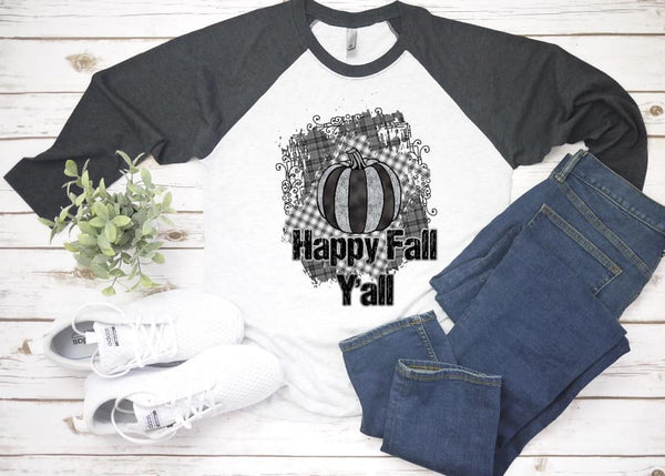 Happy Fall Yall Black - Dye Sub Heat Transfer Sheet