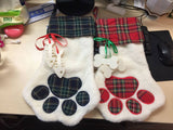 Dog and Cat Paw Stocking
