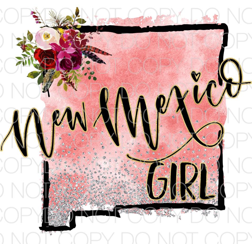 New Mexico Girl - Dye Sub Heat Transfer Sheet