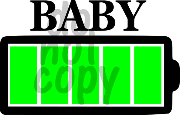 Battery Baby - Dye Sub Heat Transfer Sheet