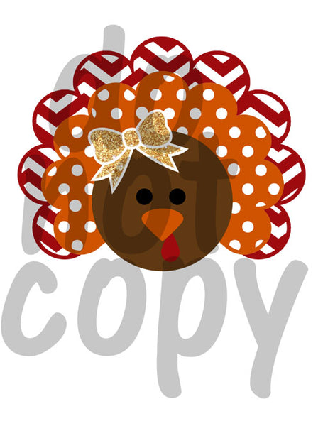 Cutesy Turkey - Dye Sub Heat Transfer Sheet