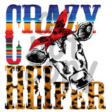 Crazy Heifer Serape - Dye Sub Heat Transfer Sheet
