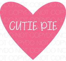 Cutie Pie Heart - Dye Sub Heat Transfer Sheet