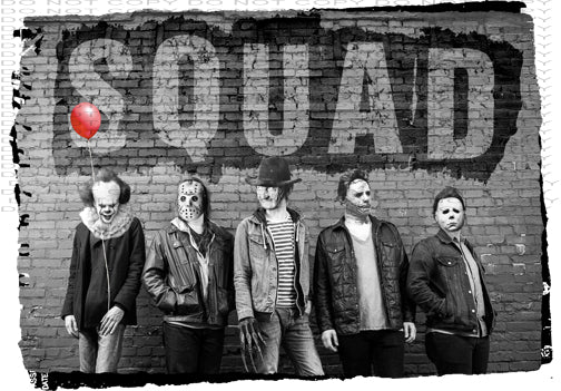 Squad It Jason Micheal Myers Freddy Krueger - Dye Sub Heat Transfer Sheet
