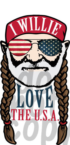 I Willie Love The USA - Dye Sub Heat Transfer Sheet