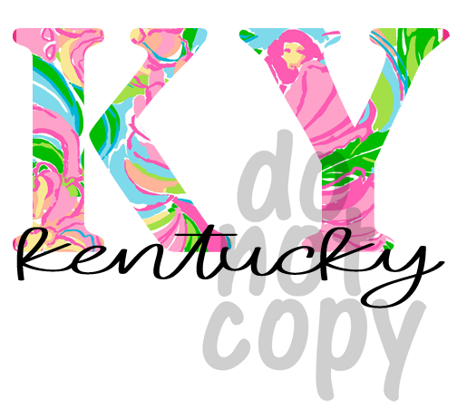 KY Floral - Dye Sub Heat Transfer Sheet