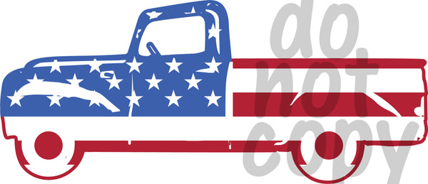Truck Flag 4 - Dye Sub Heat Transfer Sheet