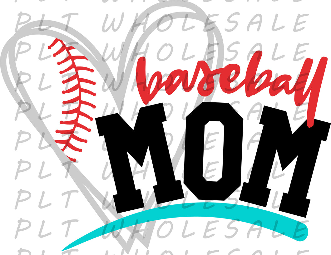 Baseball Mom - Dye Sub Heat Transfer Sheet