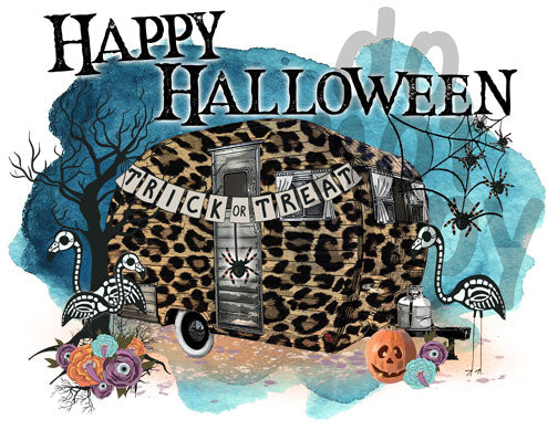 Happy Halloween Camper - Dye Sub Heat Transfer Sheet