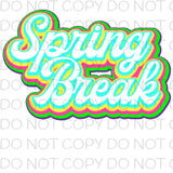 Spring break - Dye Sub Heat Transfer Sheet