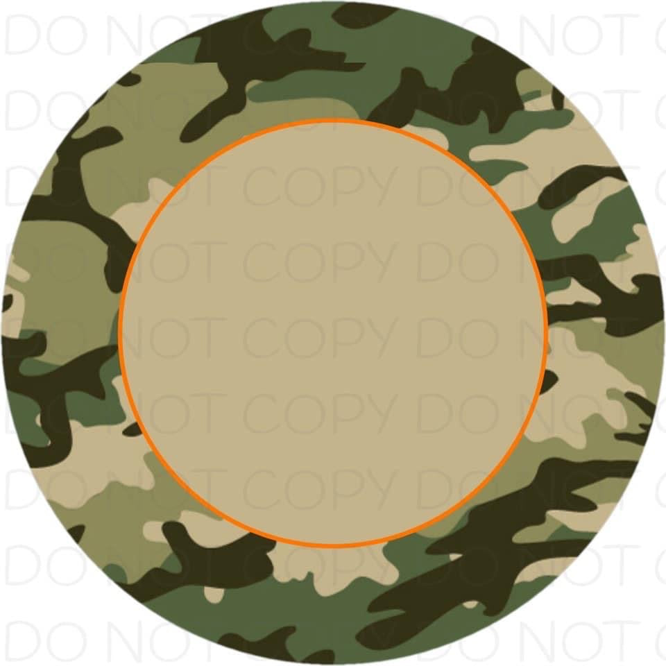 Camo border - Rubber Neoprene Car Coasters