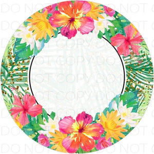 Tropical circle - Rubber Neoprene Car Coasters