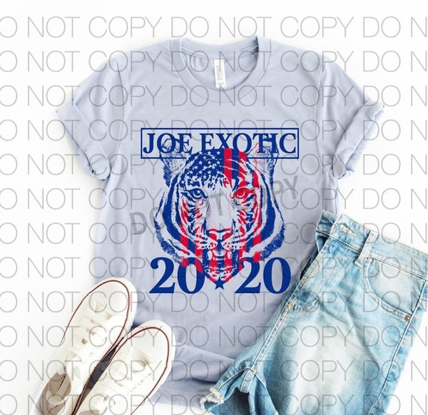 SP002-Joe Exotic 2020 Screenprint Transfer-Soft
