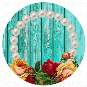 Flowers with Pearls- Rubber Neoprene Car Coasters
