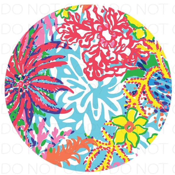 Colorful flowers  - Rubber Neoprene Car Coasters