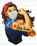 Lab Tech Girl Power - Dye Sub Heat Transfer Sheet