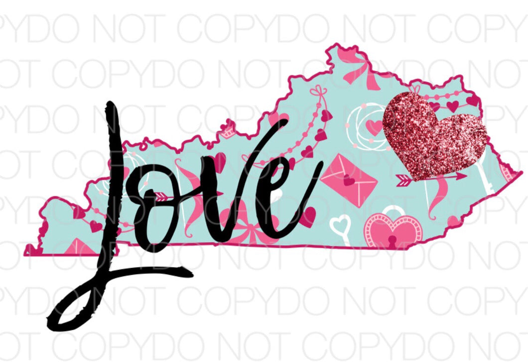 Kentucky Love - Dye Sub Heat Transfer Sheet