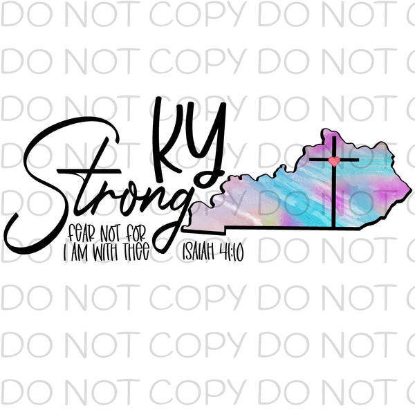 Kentucky Strong - Dye Sub Heat Transfer Sheet