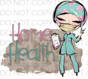Home Health - Dye Sub Heat Transfer Sheet