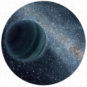 Space planet - Rubber Neoprene Car Coasters