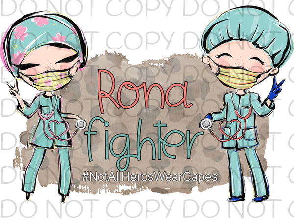 Rona Fighter - Dye Sub Heat Transfer Sheet