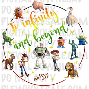 To Infinity and Beyond Toy Story - Digital Download