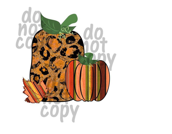 Fall Pumpkins - Dye Sub Heat Transfer Sheet