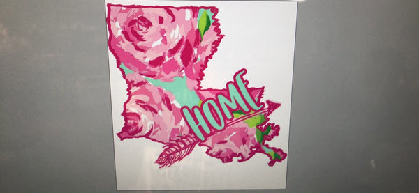 Louisiana Home Lilly Rose - Dye Sub Heat Transfer Sheet