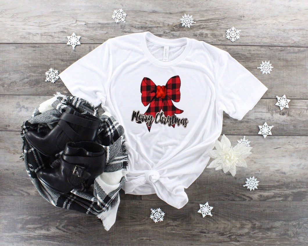 Merry Christmas Bow - Dye Sub Heat Transfer Sheet
