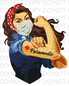 Paramedic Girl Power - Dye Sub Heat Transfer Sheet