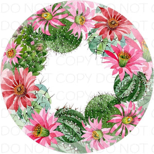 Cactus flowers - Rubber Neoprene Car Coasters