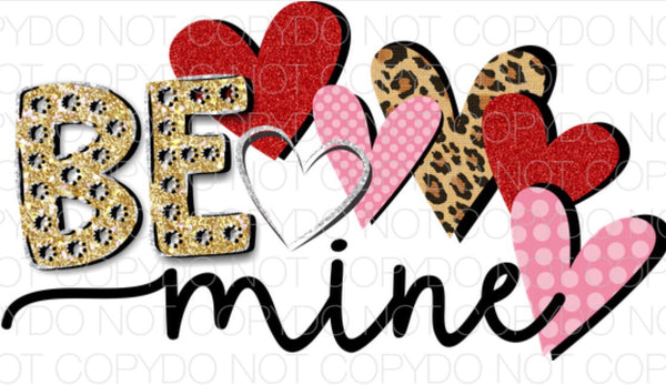 Be Mine Hearts - Dye Sub Heat Transfer Sheet