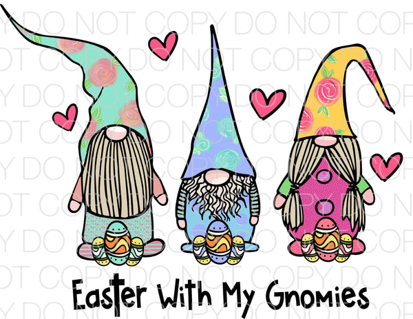 Easter with my gnomies - HTV Transfer