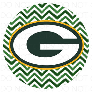 Green Bay Packers chevron- Rubber Neoprene Car Coasters