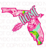 Florida Rose - Dye Sub Heat Transfer Sheet