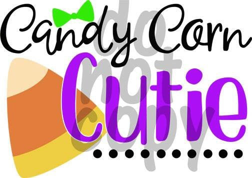Candy Corn Cutie - Dye Sub Heat Transfer Sheet