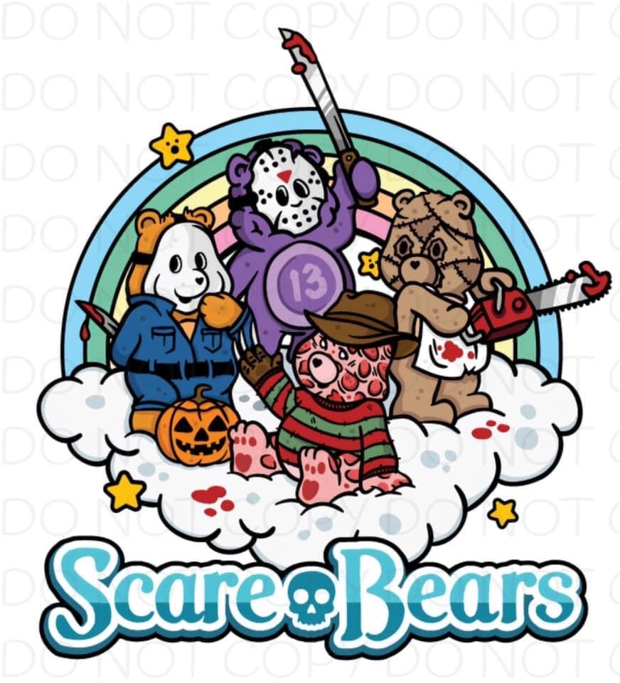 Scare Bears  - Dye Sub Heat Transfer Sheet