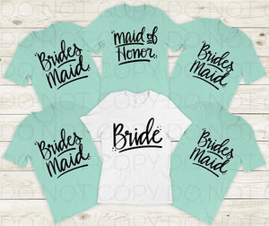 SP159-Bridesmaid Screenprint Transfer