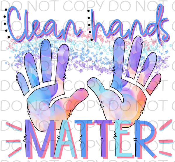 Clean hands matter - HTV Transfer