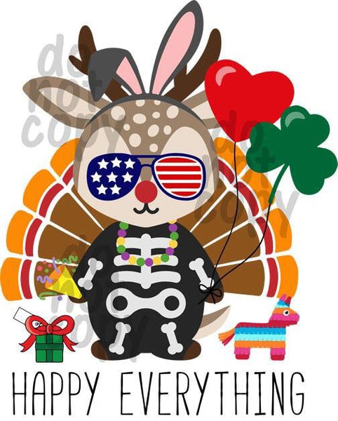 Happy Everything - Dye Sub Heat Transfer Sheet