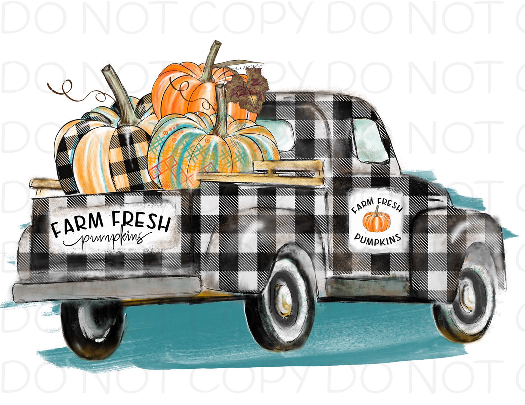 Farm Fresh Pumpkins Truck - HTV Transfer